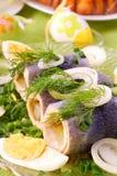 复活节鲱鱼卷 库存照片