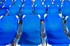 песок салонов пляжа голубой Стоковая Фотография RF