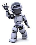 机器人挥动 免版税库存照片
