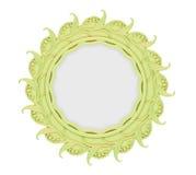 查出的装饰框架金黄 图库摄影