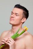 человек влюбленности цветка Стоковое Изображение RF