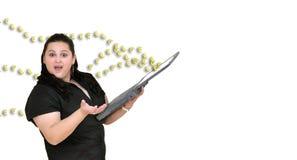 держите женщину тетради Стоковые Фото