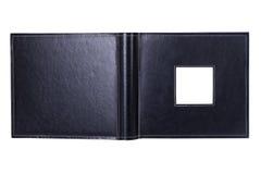 开放册页的黑色 免版税库存图片
