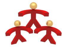 红色小组 免版税库存照片