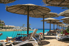 море Египета пляжа Стоковая Фотография