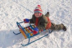 雪撬 免版税库存图片