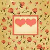бумага сердца рамки цветков Стоковые Фото