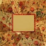 предпосылка помечает буквами ретро розы Стоковое Изображение RF