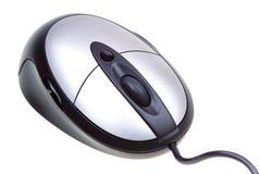接近的计算机查出白色的鼠标 免版税库存图片