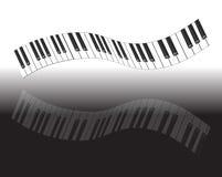 抽象关键董事会钢琴 免版税图库摄影