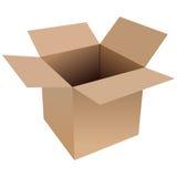 коробка открытая Стоковое Фото