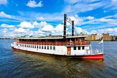 小船蒸汽 库存图片