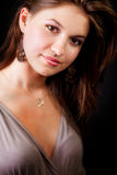 典雅的一个肉欲的性感的妇女年轻人 库存图片