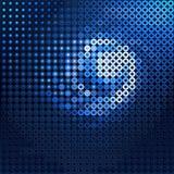 蓝色转动 免版税库存照片