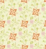 无缝抽象花卉的模式 免版税库存照片