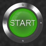 старт кнопки Стоковое Изображение