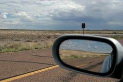 离开高速公路 库存照片