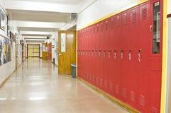 空的走廊学校 免版税库存图片