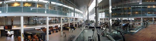 机场哥本哈根全景 免版税图库摄影