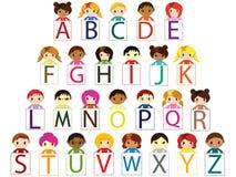 字母表孩子 库存照片