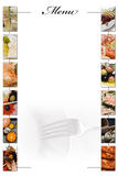 写的空白菜单空间 免版税库存图片