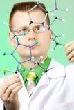 化学家年轻人 库存图片