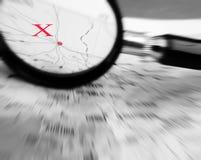 σημείο Χ χαρτών Στοκ εικόνα με δικαίωμα ελεύθερης χρήσης