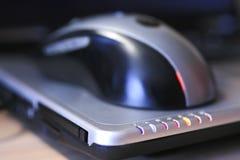 计算机鼠标笔记本 免版税库存图片