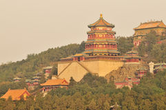 北京佛教宫殿亭子夏天 库存照片