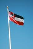 положение Миссиссипи флага Стоковое Изображение RF