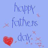 день будет отцом счастливого вектора Стоковая Фотография