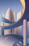 未来派的城市 库存图片