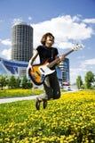басовый игрок Стоковая Фотография RF
