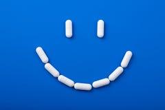 药片微笑 免版税图库摄影