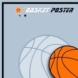 背景球篮子 图库摄影