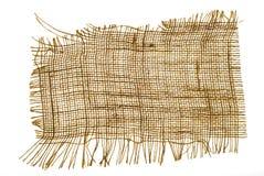 麻袋布纹理 免版税库存图片