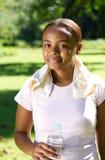 非洲裔美国人的慢跑者 库存照片
