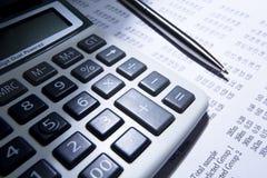 计算器笔 免版税库存照片