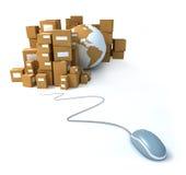 商务概念互联网 免版税库存照片