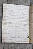 从事园艺的列表工厂 免版税库存照片