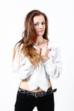 красивейшая женщина портрета способа Стоковое фото RF