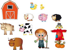 иконы фермы Стоковые Фотографии RF