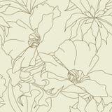 与花的无缝的墙纸 免版税库存照片