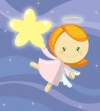 天使逗人喜爱的女孩一点 免版税库存照片