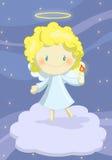逗人喜爱天使的男孩一点 免版税库存图片