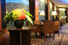 旅馆大厅在曼谷 免版税库存图片