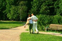 старшии пар счастливые Стоковое Изображение RF