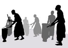 африканские барабанчики Стоковые Изображения