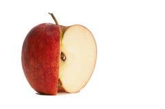 苹果被剪切的新鲜 免版税库存图片