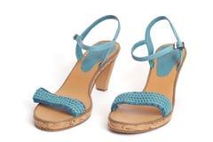 蓝色鞋子 免版税图库摄影